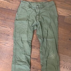 Patagonia Men's Organic Cotton Green Pants 32 Long